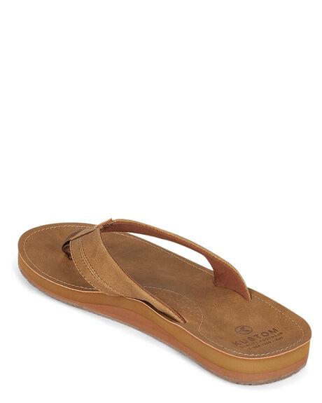 TAN MENS FOOTWEAR KUSTOM THONGS - KS-4993209-TAN
