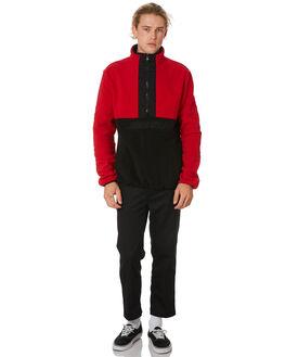 RED BLACK MENS CLOTHING SANTA CRUZ JUMPERS - SC-MFB9224RDBLK