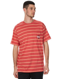 CORAL MENS CLOTHING STUSSY TEES - ST077100CORAL