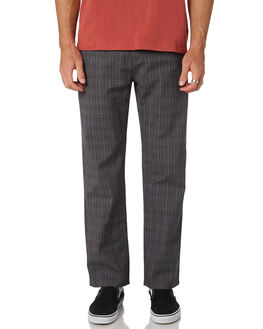 CHARCOAL PLAID MENS CLOTHING BARNEY COOLS PANTS - 710-CC2CHAPL