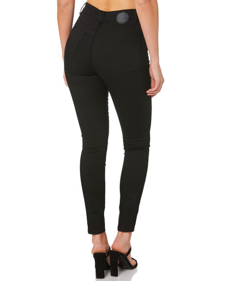 BACK IN BLACK WOMENS CLOTHING RES DENIM JEANS - RW0188BAC