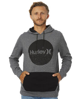 BLACK MENS CLOTHING HURLEY JUMPERS - AMFLSIG00A