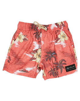 RED KIDS BOYS RIP CURL BOARDSHORTS - OBOMX10040
