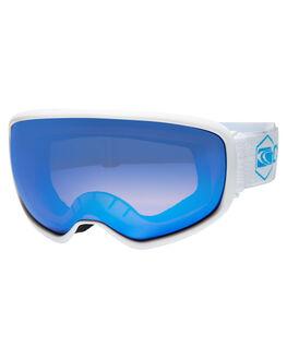 WHITE ORANGE BLUE BOARDSPORTS SNOW CARVE GOGGLES - 6022WHIOB
