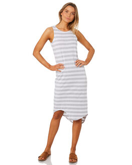 GREY STRIPE WOMENS CLOTHING SILENT THEORY DRESSES - 6061028GRY
