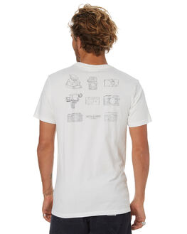 WHITE MENS CLOTHING RHYTHM TEES - OCT18M-PT09-WHT