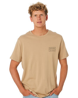 KHAKI MENS CLOTHING RIP CURL TEES - CTETK20064
