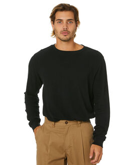 DIRTY BLACK MENS CLOTHING BANKS JUMPERS - WFL0232DBL