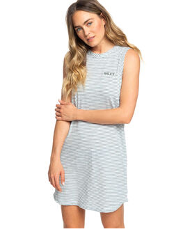 TROOPER COSY STRIPES WOMENS CLOTHING ROXY DRESSES - ERJKD03235-BLN2