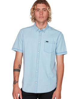 DENIM MENS CLOTHING RVCA SHIRTS - RV-R393189-DEN
