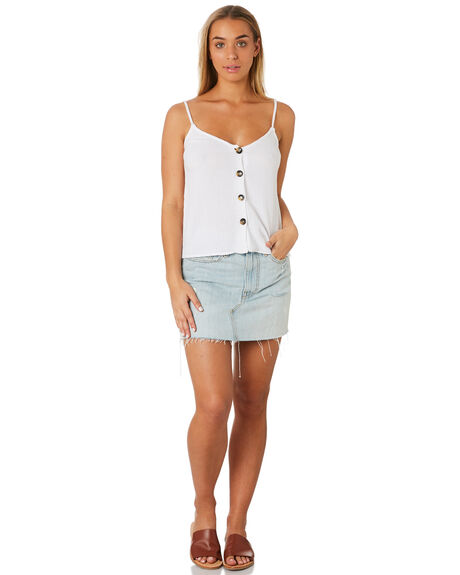 WHITE WOMENS CLOTHING RHYTHM FASHION TOPS - JUL19W-WT04WHI