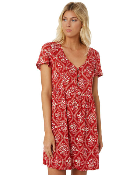 RED WOMENS CLOTHING SWELL DRESSES - S8188444RED