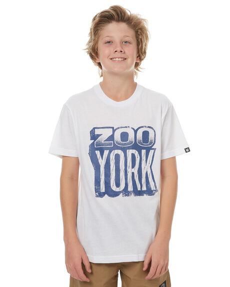WHITE KIDS BOYS ZOO YORK TEES - ZY-YTC7132WHI