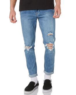 FAST LANE INDIGO MENS CLOTHING WRANGLER JEANS - W-901548-LC3FLIND