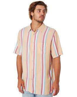 MUSTARD VERT STRIPE MENS CLOTHING BARNEY COOLS SHIRTS - 301-CC4MUST