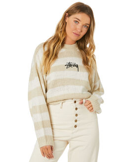 TAN WOMENS CLOTHING STUSSY KNITS + CARDIGANS - ST106306TAN