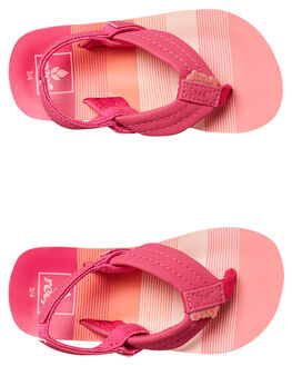 PINK STRIPE KIDS GIRLS REEF THONGS - 2199PSR