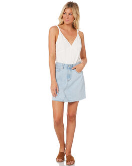 LIGHT BLUE WOMENS CLOTHING NUDE LUCY SKIRTS - NU23354LTBLU