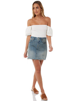 WHITE WOMENS CLOTHING THE HIDDEN WAY FASHION TOPS - H8174171WHITE