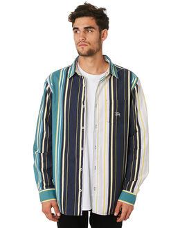 LIGHT GREEN MENS CLOTHING STUSSY SHIRTS - ST097407LGRN
