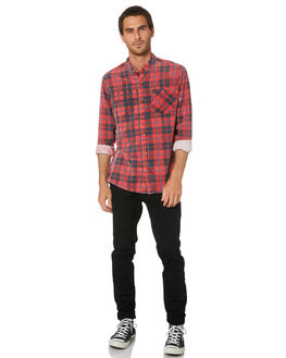 RED MENS CLOTHING ROLLAS SHIRTS - 15867160