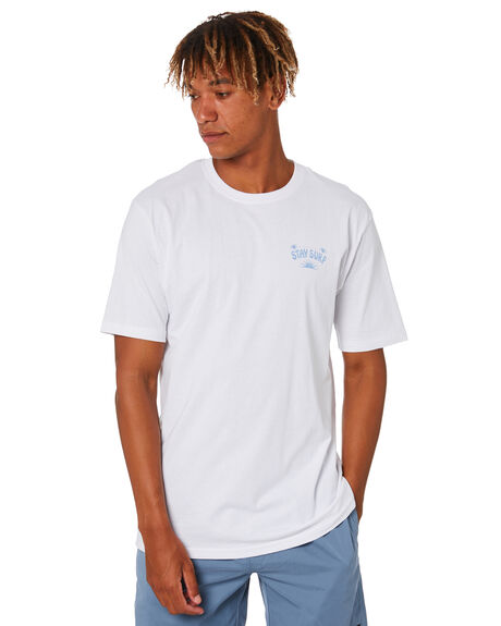 WHITE MENS CLOTHING STAY TEES - STE-20410WHT