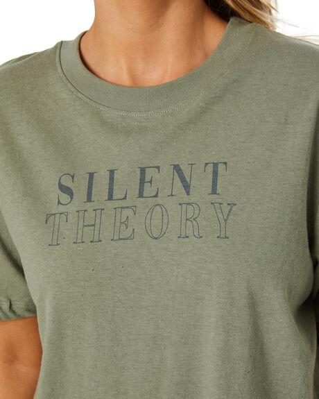 KHAKI WOMENS CLOTHING SILENT THEORY TEES - 6074003KHAK