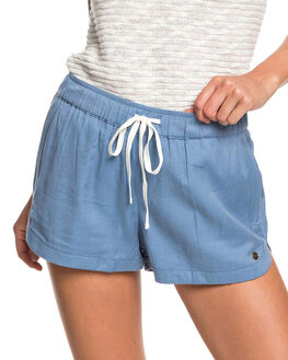 BLUE HEAVEN WOMENS CLOTHING ROXY SHORTS - ERJNS03266-BLF0