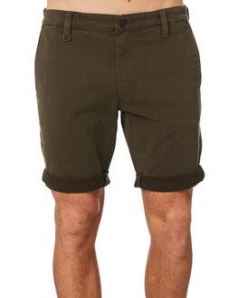 OLIVE GREEN MENS CLOTHING NEUW SHORTS - 326804664
