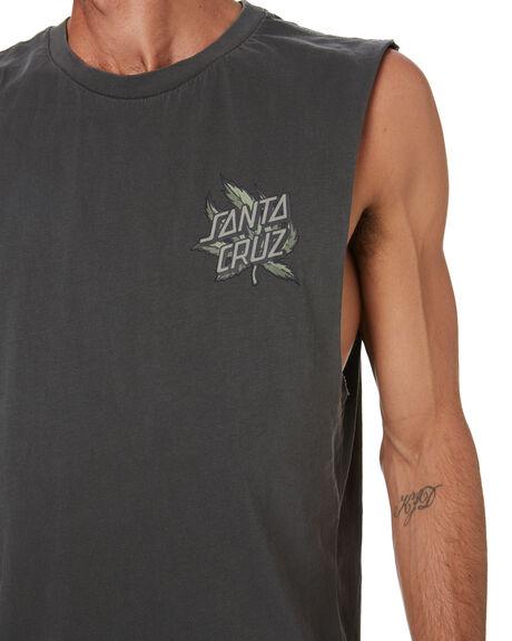 ANTIQUE BLACK MENS CLOTHING SANTA CRUZ SINGLETS - SC-MTD0746ANTQBLK