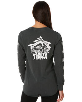 MERCH BLACK WOMENS CLOTHING THRILLS TEES - WTW8-107MBMBLK