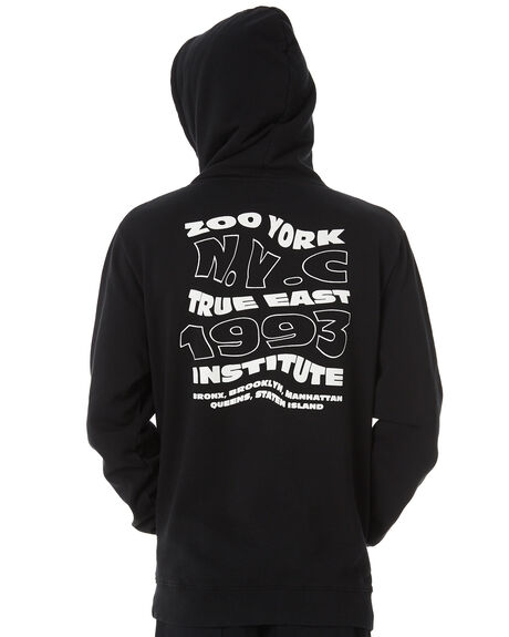 BLACK MENS CLOTHING ZOO YORK JUMPERS - ZY-MFB8120BLK
