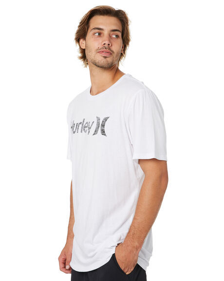 WHITE ANTHRACITE MENS CLOTHING HURLEY TEES - 892205105