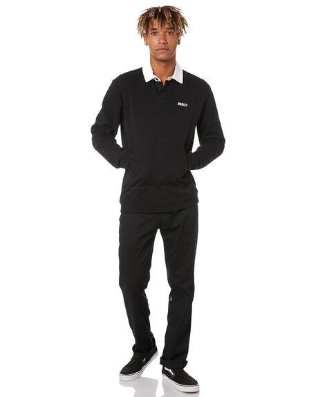 BLACK MENS CLOTHING HURLEY HOODIES + SWEATS - MFT0009720H010