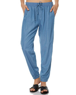 MID BLUE WOMENS CLOTHING RUSTY PANTS - PAL0897MDB