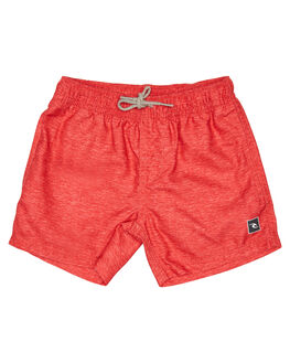 LIGHT RED KIDS BOYS RIP CURL SHORTS - OBORA18940