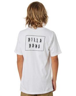 WHITE BLACK KIDS BOYS BILLABONG TOPS - 8582035WHBK