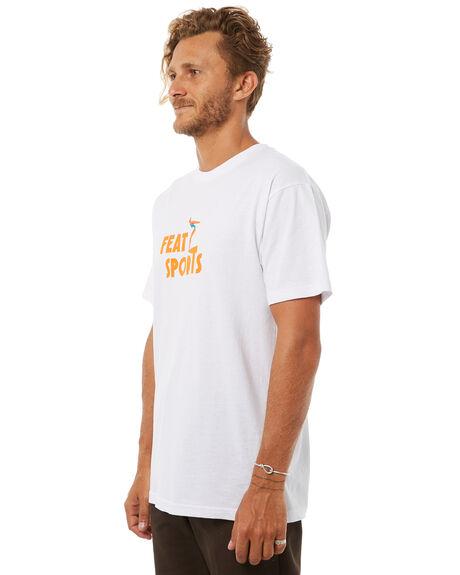 WHITE MENS CLOTHING FEAT TEES - FTTSPOR01WHT
