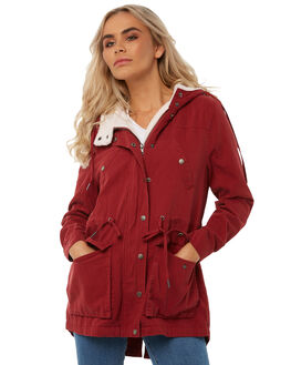 DEEP RED WOMENS CLOTHING ALL ABOUT EVE JACKETS - 6413070RED
