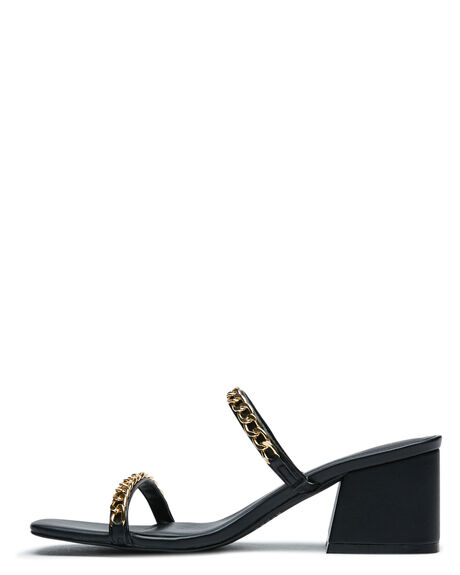 BLACK OUTLET WOMENS THERAPY HEELS - SOLE-2474BLK