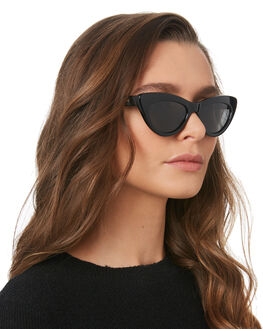 POLISHED BLACK WOMENS ACCESSORIES LOCAL SUPPLY SUNGLASSES - MARINABKG25
