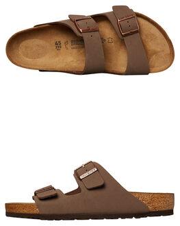 42662098de2 MOCCA MENS FOOTWEAR BIRKENSTOCK SLIDES - 151181MMOC. BIRKENSTOCK 1 Mens  Regular Arizona Nubuck Sandal