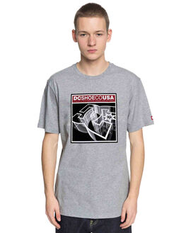 GREY HEATHER MENS CLOTHING DC SHOES TEES - UDYZT03547KNFH