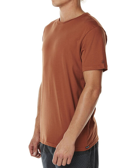 volcom solid ss mens rustic brown surfstitch