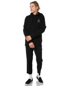 BLACK MENS CLOTHING HUF JUMPERS - PF00100-BLK