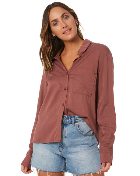 ROSE TAUPE WOMENS CLOTHING RUSTY FASHION TOPS - WSL0692-RTA