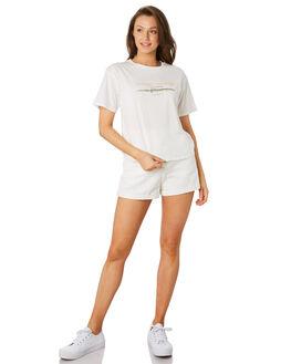 WHITE WOMENS CLOTHING COOLS CLUB TEES - 100-CW4WHI