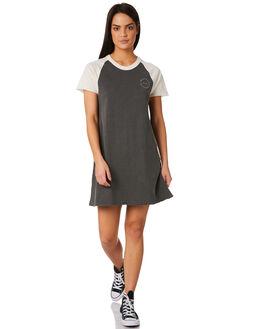 WASHED BLACK WOMENS CLOTHING RVCA DRESSES - R281762WBK