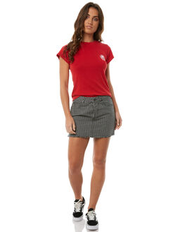 PLAID WOMENS CLOTHING RVCA SKIRTS - R283833PLA