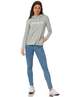 DARK GREY HEATHER WOMENS CLOTHING HURLEY JUMPERS - AJ3609063